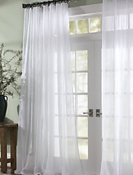 Two Panels Curtain Modern , Solid Bedroom Polyester Material Sheer Curtains Shades Home Decoration For Window