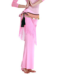 Dancewear Polyester With Tassels/Coins Performance Belly Dance Hip Scarf For Ladies More Colors