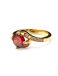 Garnet Rose Gold Plated Love Fashion Ring
