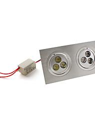 7W Lâmpada de Embutir / Lâmpada de Teto Encaixe Embutido 6 LED de Alta Potência 540 lm Branco Natural AC 85-265 V