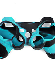 Protective Dual-Color Silicone Case for PS3 Controller (Blue and Black)