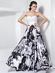 Prom/Formal Evening/Military Ball Dress - White Plus Sizes A-line/Princess Sweetheart/Strapless Floor-length Stretch Satin
