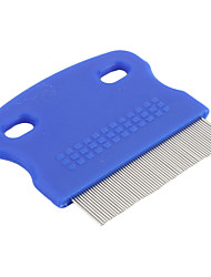 Cat / Dog Grooming Comb Pet Grooming Supplies Blue Plastic
