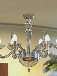 lampadari moderni acrilici con 6 candele luci presenti