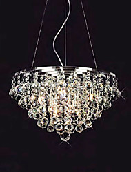 Crystal Drop Pendant Lights with 8 Lights in Round Shape