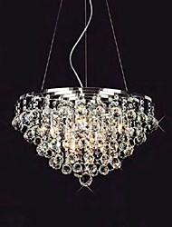 luzes gota de cristal pingente com 8 luzes em forma redonda
