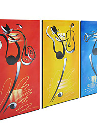 Hand-painted Animals Oil Painting with Stretched Frame - Set of 3