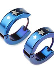 Eruner®Men's Titanium Steel Star Pattern Earring