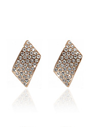 18K Gold Plated Beautiful Clear Rhinestone Fashion Earrings