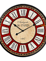 en fer forgé en vedette méditerranéen mur du style horloge grand format