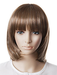 Capless High Quality Natural Look Grey Bob Hair Wig