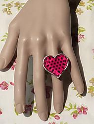 rose et noir motif en forme de coeur de punk lolita anneau