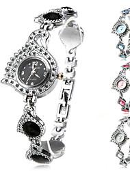 Damen Modeuhr Armbanduhr Armband-Uhr Quartz Band Elegante Schwarz Weiß Blau Rosa Marke