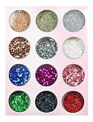 colorido brilho das unhas ato prego decorações