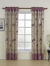 (Two Panels Rod Pocket Top) Facny Bloom Room Darkening Curtain