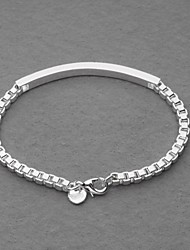 geweldige verzilverde box ketting id unisex armband