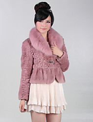 Gorgeous Long Sleeve Party/Office Rabbit Fur Fox Fur Collar Jacket (More Colors)