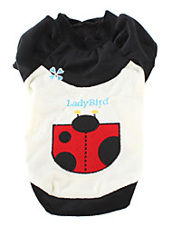 Ladybird Style Soft Coat for Dogs (XS-XL, Black and White)