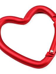 mousqueton en forme de coeur (rouge)