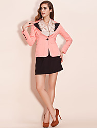 TS Contrast Color Lapel Blazer
