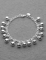 мода посеребренные колокол прелести унисекс браслет
