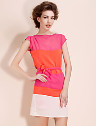TS Color Block Belted Flow Dress (More Colors)