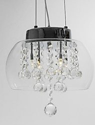 Artistic 4 - Light Crystal Pendant Lights with Glass Shade