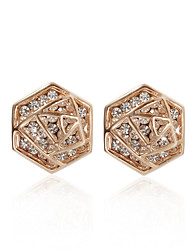 18K Gold Plated Charming Clear Rhinestone Fashion Earrings