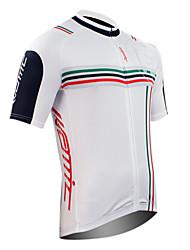 tops / Jersey (Branco) - de Ciclismo - Homens -Respirável / Secagem Rápida / Zíper Frontal / Vestível / Design Anatômico / Reduz a