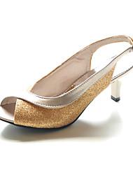 slingbacks en simili-cuir talon chaton / Parti peep toe ou eveningshoes (plus de couleurs)
