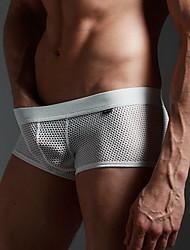 hombres sexy ropa interior de malla transpirable