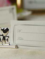 Place Cards and Holders Silver LOVE Place Card Holders