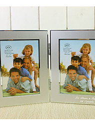Personalized Silver Aluminum Photo Frame - 2 Photos
