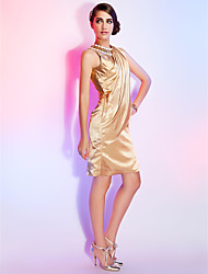 TS Couture® Cocktail Dress - Elegant Plus Size / Petite Sheath / Column Jewel Knee-length Stretch Satin with Crystal Detailing