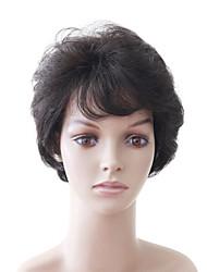 Capless Short Nature Look Mixed Hair Brown Women's Hair Wig