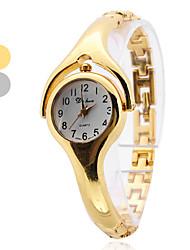 Mulheres Relógio de Moda Quartz Banda Bracelete Prata / Dourada marca-
