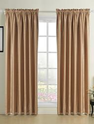 clássico moderno dois painéis bolso de haste superior em relevo cortinas blackout cortinas