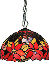 Pendant Light ,  Tiffany Bowl Electroplated Feature for Mini Style Glass Living Room Bedroom Dining Room Entry Game Room