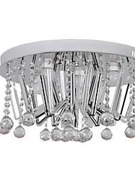 Modern Crystal Flush Mount with 5 Lights