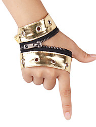 PU Fingerless Wrist Length Activity / Sports Gloves With Zipper (More Colors)