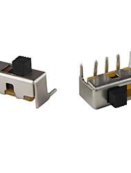ss-12f23 0.3a Schiebeschalter für DIY-Projekt-black silver (100-Stück-Packung)