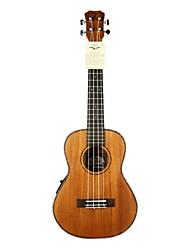 Tom - (tom251e) ukulele tenor mogno com bag / picaretas