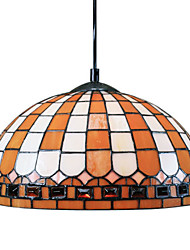 60W Tiffany Pendent Light with 1 Light in Orange