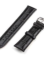 Unisex Leder Armband 20mm (schwarz)