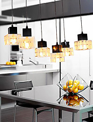 Comtemporary Cubic Pendant Lights with 6 Lights
