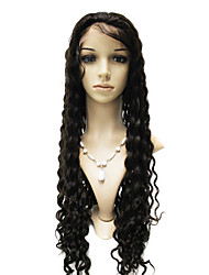 Lace Front 100% cabelo indiano de Remy peruca onda longa e profunda