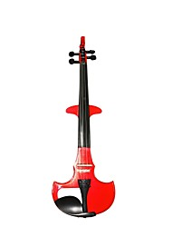 Cozart - (ml003) 4/4 parties jujube violon électrique avec étui / arc / résine / câble / batterie