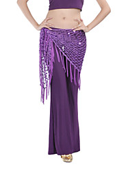 Belly Dance Hip Scarves Women's Training Chinlon Tassel(s) 1 Piece Hip Scarf