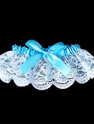 Jarretière Dentelle Nœud papillon Bleu