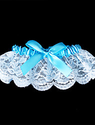 Garter Lace Bowknot Blue